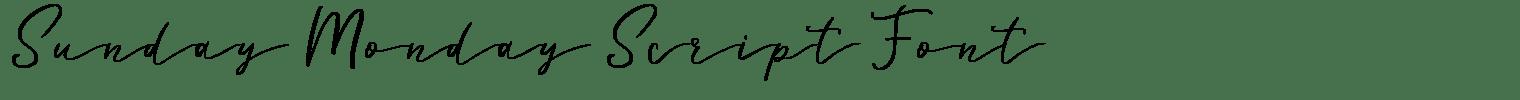 Sunday Monday Script Font