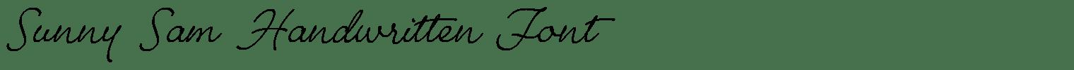 Sunny Sam Handwritten Font