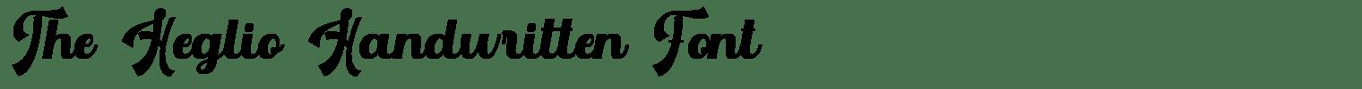 The Heglio Handwritten Font