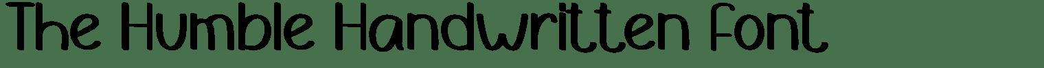 The Humble Handwritten Font