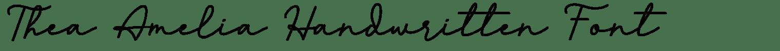Thea Amelia Handwritten Font