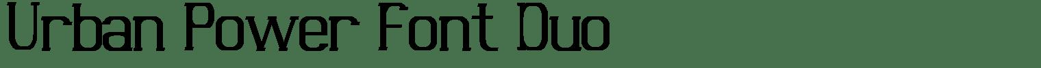 Urban Power Font Duo