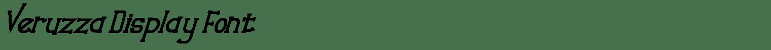Veruzza Display Font