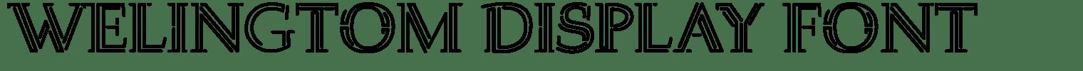 Welingtom Display Font