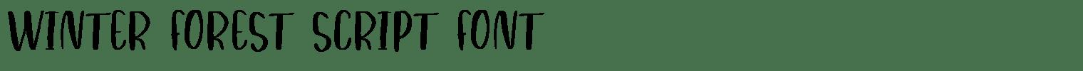 Winter Forest Script Font