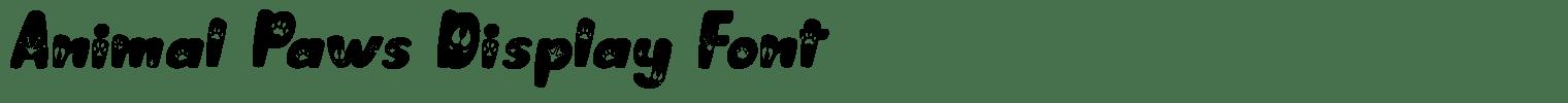 Animal Paws Display Font