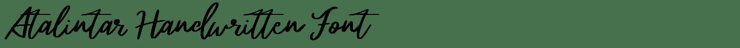 Atalintar Handwritten Font