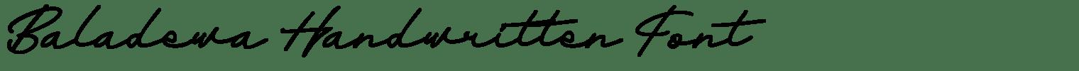 Baladewa Handwritten Font