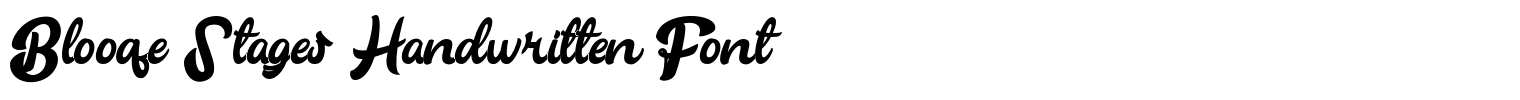 Blooqe Stages Handwritten Font