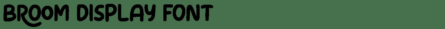 Broom Display Font