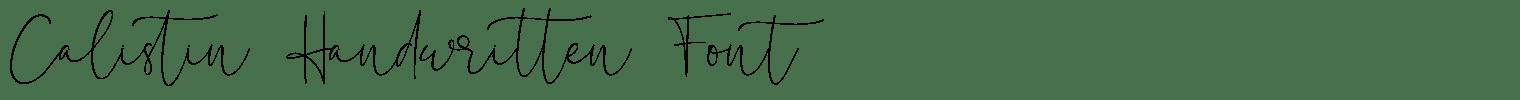Calistin Handwritten Font