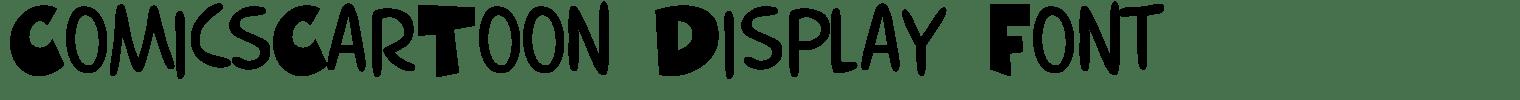 ComicsCarToon Display Font