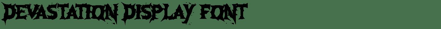 Devastation Display Font