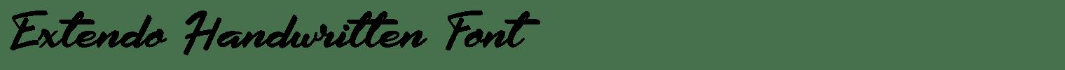 Extendo Handwritten Font