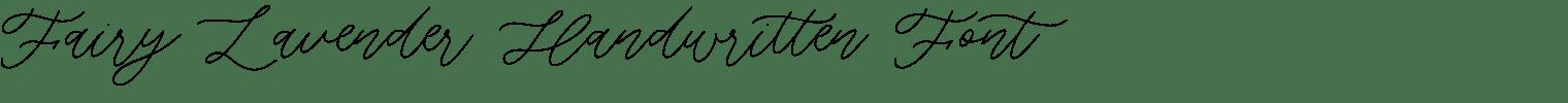 Fairy Lavender Handwritten Font