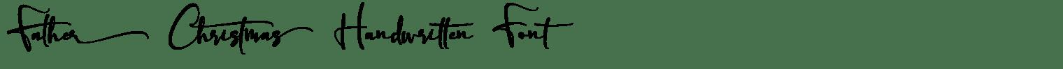 Father Christmas Handwritten Font
