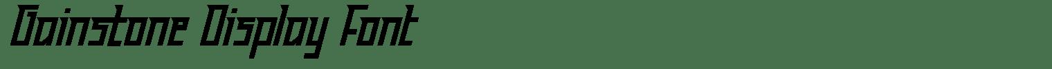 Gainstone Display Font