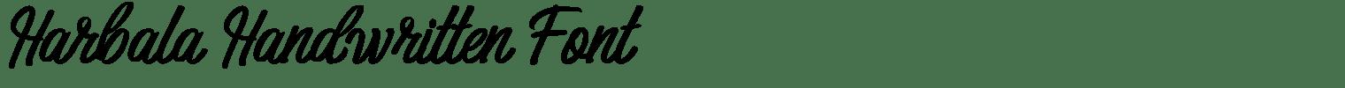 Harbala Handwritten Font