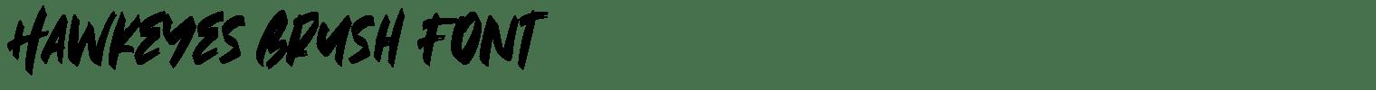 Hawkeyes Brush Font