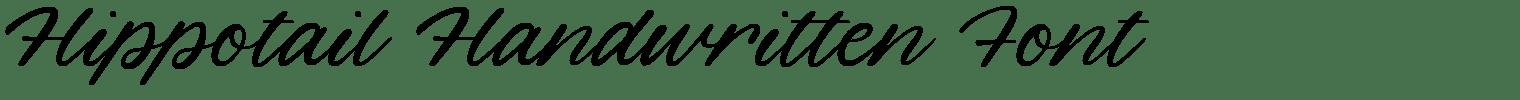 Hippotail Handwritten Font