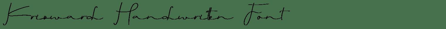 Krisward Handwritten Font