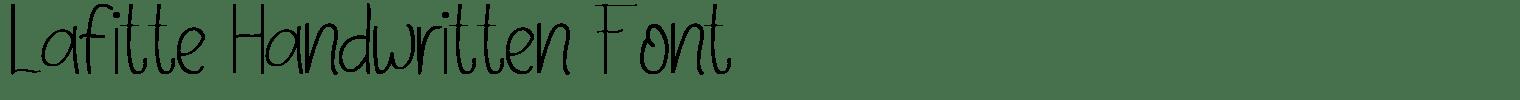 Lafitte Handwritten Font