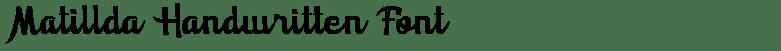 Matillda Handwritten Font
