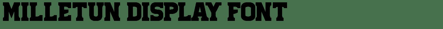 Milletun Display Font
