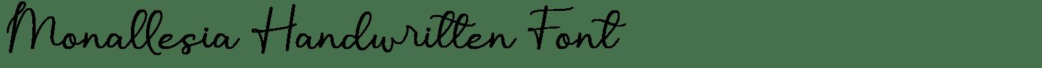 Monallesia Handwritten Font