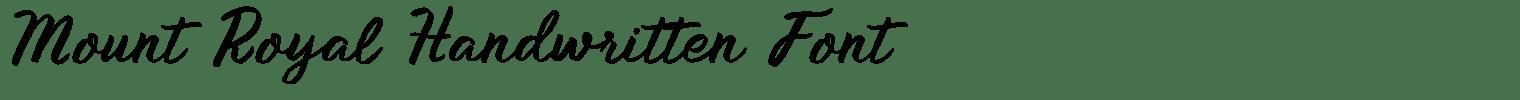 Mount Royal Handwritten Font