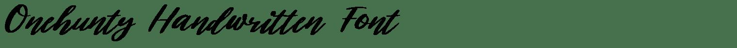 Onehunty Handwritten Font