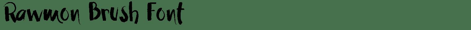 Rawmon Brush Font