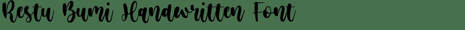 Restu Bumi Handwritten Font
