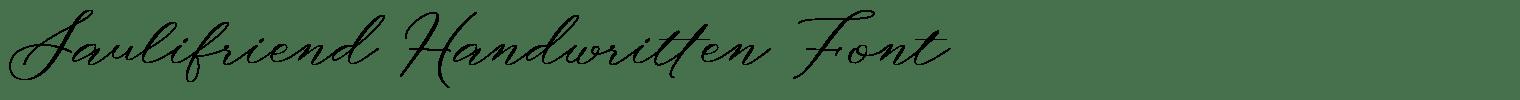 Saulifriend Handwritten Font