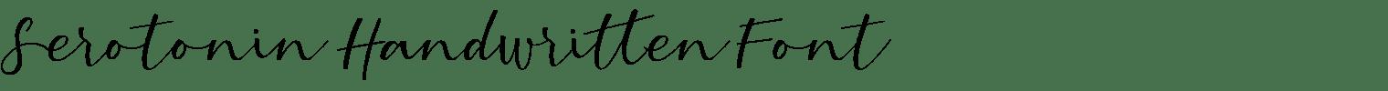 Serotonin Handwritten Font