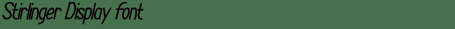Stirlinger Display Font