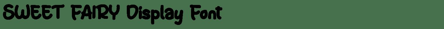 SWEET FAIRY Display Font