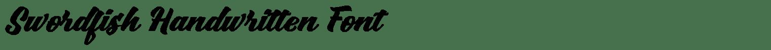 Swordfish Handwritten Font