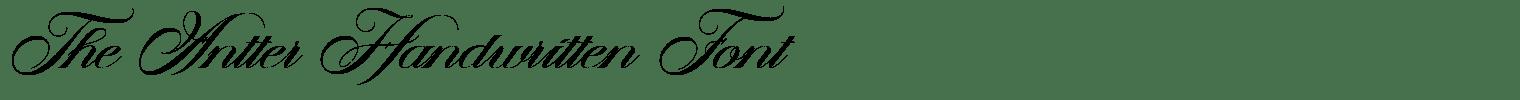 The Antter Handwritten Font