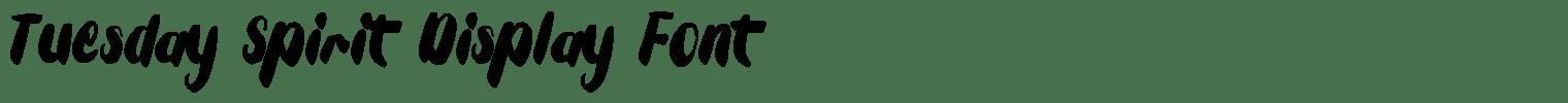 Tuesday Spirit Display Font