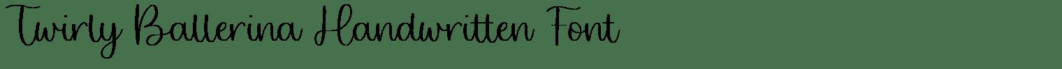 Twirly Ballerina Handwritten Font
