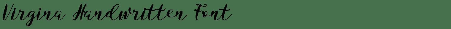 Virgina Handwritten Font