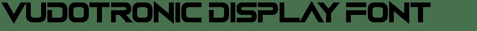Vudotronic Display Font