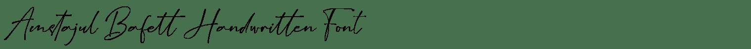 Amstajul Bafett Handwritten Font