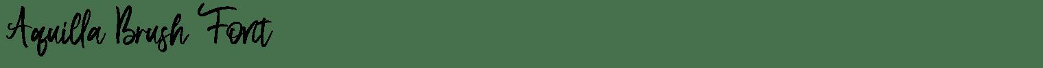 Aquilla Brush Font