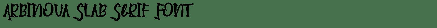 Arbinova Slab Serif Font