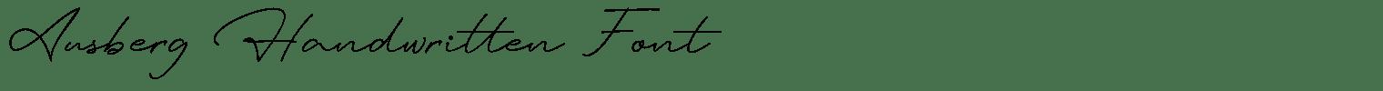Ausberg Handwritten Font
