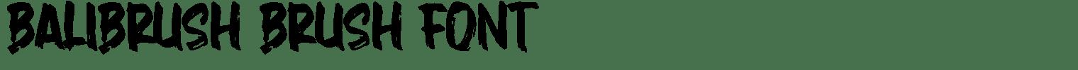 Balibrush Brush Font