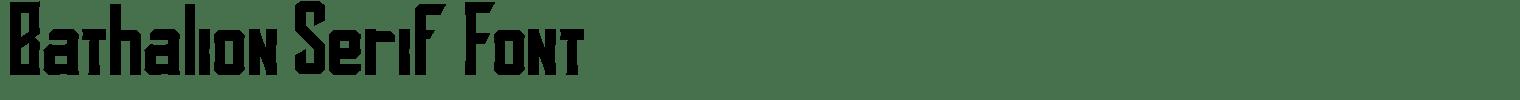 Bathalion Serif Font
