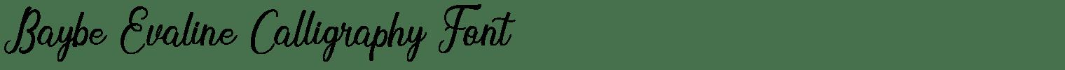Baybe Evaline Calligraphy Font